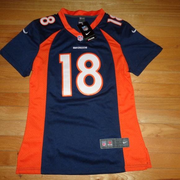 timeless design f0478 f1a69 Broncos Peyton Manning NFL Womens Blue Jersey - XL NWT